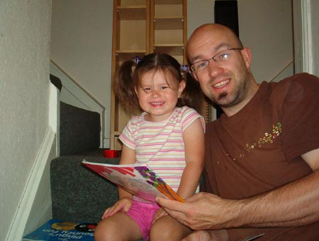 Nat and Daddy read a book
