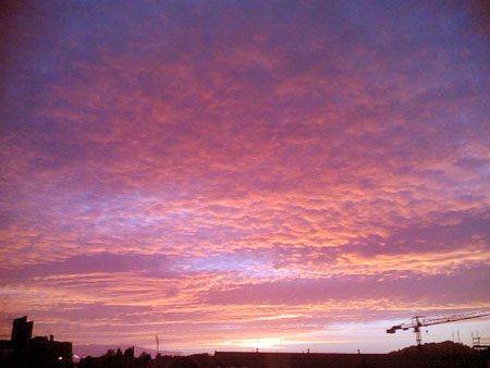 Sunset Clouds over Dundee, taken on 30-09/05